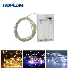Battery Operated Led Indoor Lights Us 2 15 5m 50 Leds 3x Aa Battery Operated Led String Lights Starry Lights Indoor Outdoor Decorating For Xmas Party Wedding In Led String From