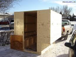 folding ice fishing shelter plans house