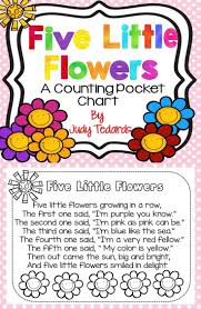 Five Little Flowers Pocket Chart Activity And Student Book