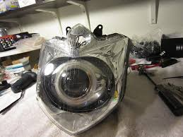 how to install bkmoto fz fzr hid bixenon projectors angel place headlight on a towel and into the oven at 225f for 5 minutes remove hot headlight from the oven and press lenses firmly together