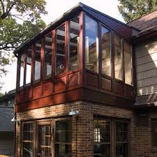 new sunroom photof conservatory built on upper level of home