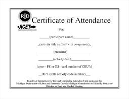 Certificate Of Attendance Template Word Free Filename Elrey De Bodas