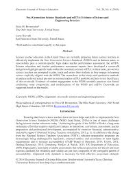 Pdf Next Generation Science Standards And Edtpa Evidence