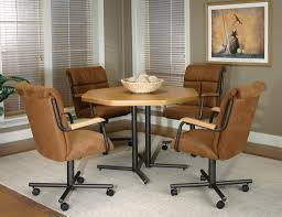 gallery of kitchen chairs with casters for dining room casters