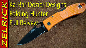 Dozier Design Ka Bar Hunter Folder Ka Bar Dozier Folding Hunter Thumb Notch Near Perfect Budget Edc Knife