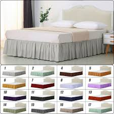 bed skirt valance white king size