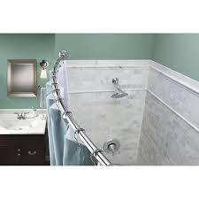 moen chrome curved shower rod