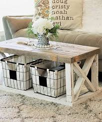 brown combo x leg coffee table