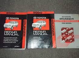 2000 toyota 4runner service shop repair manual set oem service 2000 toyota 4runner service shop repair manual set oem service manual set and the wiring diagrams manual