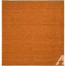 artistic weavers tampico orange jute 8 ft square area