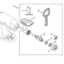 Kitchenaid fga diagram parts attachment parts
