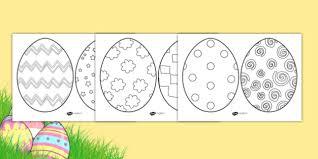 Easter Template Ks1 Easter Egg Template Colouring Sheets