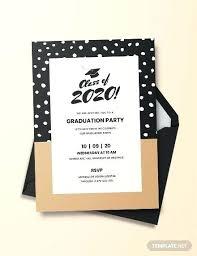Graduation Invitation Card Template Metabots Co
