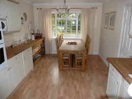 image of using laminate flooring in kitchen