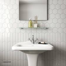 hexagon tiles bathroom wall luxury neat tile design guest bath