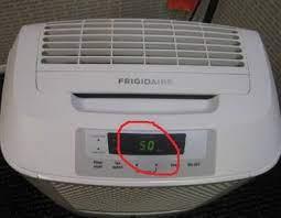 correct dehumidifier setting for