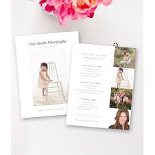 Photography Pricing Template Lifestyle Photography Pricing Template