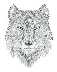 Mandala Coloring Pages For Kids Wolf Coloring Pages Printable Wolf