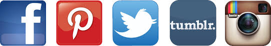 social media logos. maham in social media logos
