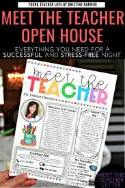 Meet The Teacher Letter Templates How To Plan Your Meet The Teacher Open House Night Young