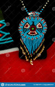 American Indian Necklace Designs Native American Indian Jewelry With Bird Design Stock Image
