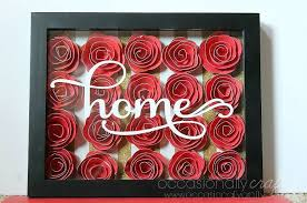 home wall art gorgeous 3d flower shadowbox wall art made with paper flowers  on 3d paper flower shadow box wall art with rolled paper flower shadowbox occasionally crafty rolled paper