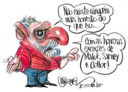 Resultado de imagem para Lula preso charges]