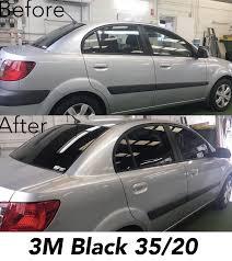 20 window tint. Fine Window 3M Black Window Tint 3520 On Kia Rio Before And After Photos With 20 Window Tint 0