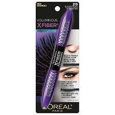 l oreal paris voluminous x fiber waterproof mascara blackest black 2150 44 oz
