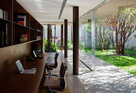 study office design ideas. Home Office Design Ideas On A Budget Light Brown Natural Wooden Floor Tiles Dark Grey Stainless Steel Cabinet Black Silver Chair Back Frame Study E
