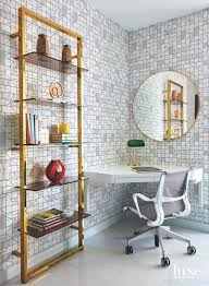 cb2 office. Cb2 Wallpaper To Maximize Space Created An Office Nook In A Corner Of The Living Room Lilt