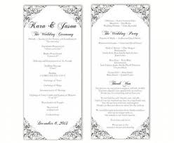 28 Incredible Free Printable Wedding Program Templates