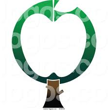 green apple tree clipart. royalty free green and white apple tree logo clipart