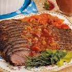 catahoula brisket in spicy beer   tomato sauce