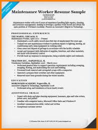 Resume For Maintenance WorkerMaintenanceWorkerResumeExample40 Gorgeous Resume For Maintenance Worker
