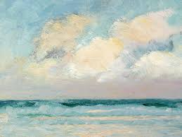 seascape painting sea study morning by as stokes