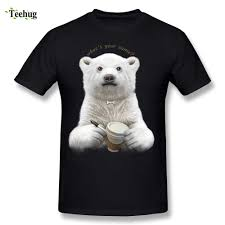 Bear T Shirt Design Us 11 27 41 Off Big Size Boy Polar Bear T Shirt Round Neck Cotton Design Tee Tops In T Shirts From Mens Clothing On Aliexpress