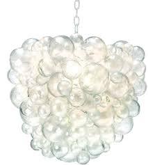 oly studio nimbus chandelier in clear resin silver