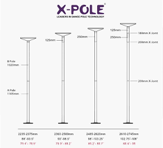 X Pole Height Chart Ceiling Height And Extension Chart For X Pole Pole Dance