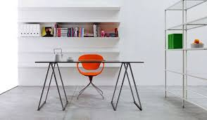 Ergonomic office design Contemporary Home Office Ideas Urban Style Home Office Design With Urban Home Wall Mounted Bookshelves As Well As Minimalist Home Office Ideas With Unique Orange Steelcase Home Office Ideas Urban Style Home Office Design With Urban Home
