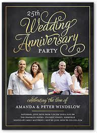 elegant photo 25th anniversary party invitations