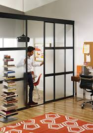 sliding glass room dividers in home office