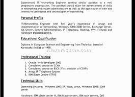 Ccna Resume Doc Information Technology Resume 22 Technical