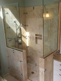 Open Shower Bathroom Showers For Small Bathrooms Home Decor