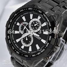2012 best quartz black stainless steel watches top quality sport fashion luxury whole gentlemen men boys` black quartz wrist watch m913b sport styles men