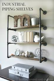 Creative diy pipe shelves design ideas House Pipingshelvesmain Design Over The Big Moon Creative Pipe Shelving Ideas