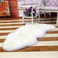 luxury faux sheepskin fur rug soft cozy throw bedroom lounge fluffy mat