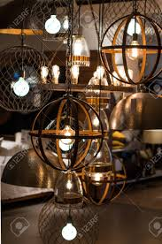 Elegant Light Bulbs Elegant Light Fixture On Display In Furniture Store With Edison
