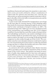 d economic benefits of transoceanic shippingthrough the st  page 189