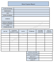 Expense Form Template Home Expense Form Sample Forms